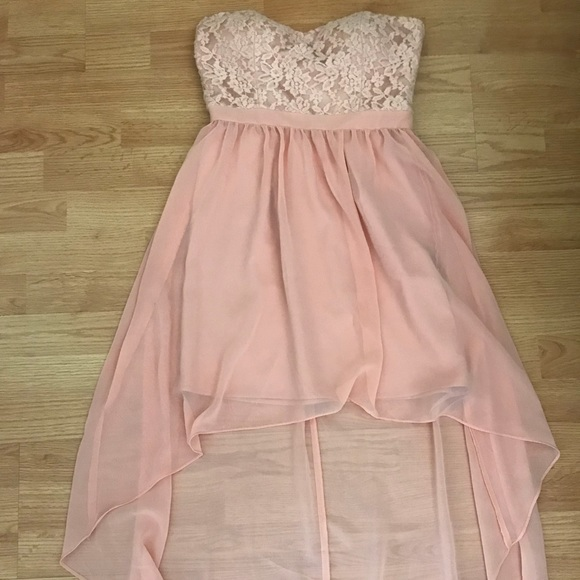 Gorgeous Blush High Low Dress From Forever 21